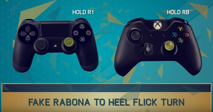 Fifa 16 New Skill Tutorial:Fake Rabona Heel Flick Turn