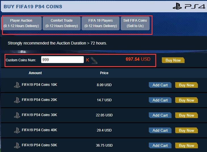 Buy FIFA 19 PS4 Coins FIFAAH